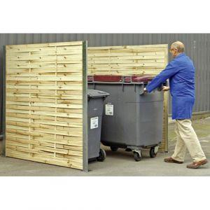 Cache-conteneurs simple en bois tressé