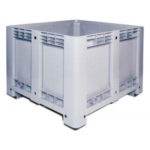 Caisse plastique parois fond pleins 610 litres