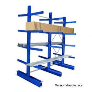 Rayonnage cantilever mi-lourd - 4 niveaux - Elément départ