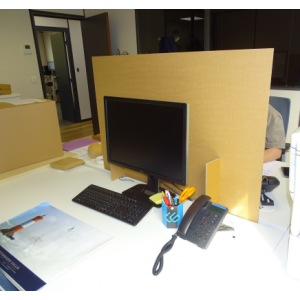 Séparateur de bureau et de zone en carton