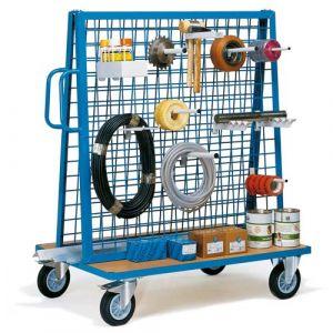 Chariot porte outils et pièces inclinaison 20%