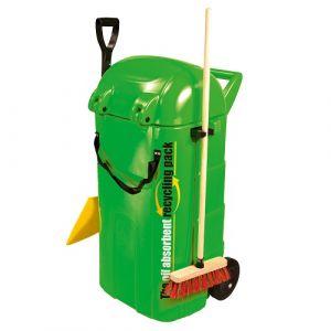 Chariot absorbant végétal pour hydrocarbures