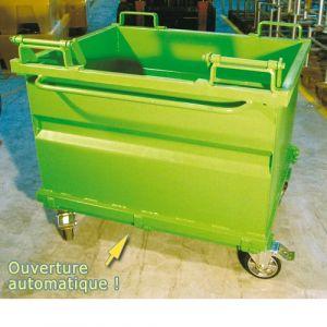 Container à fond ouvrant  500 litres laqué vert