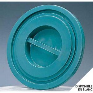 Couvercle bac plastique rond 50 Litres Vert