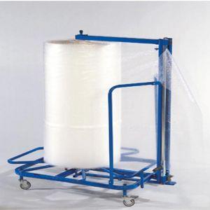 Dérouleurs verticaux pour film à bulles
