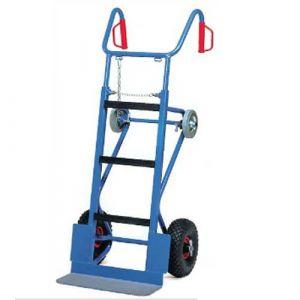 Chariot diable pour appareils  - charge 400 kg roues gonflables