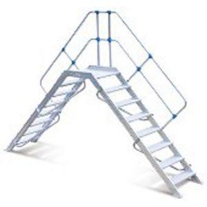 Escalier passerelle 8 marches 45°