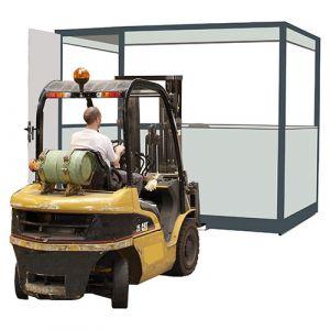 Cabine d'atelier palettisable de 3x3 m