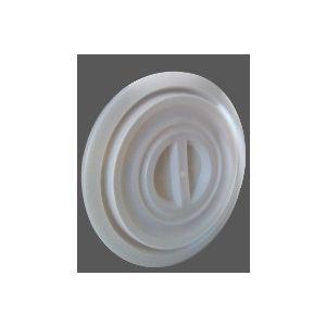 Couvercle bac plastique rond 100/120L Blanc