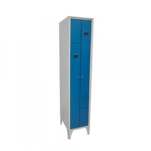Vestiaire en L2 cases sur pieds - bleu