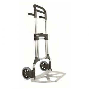 Diable repliable en aluminium - gris - sans frein - L=600 mm - 200 kg