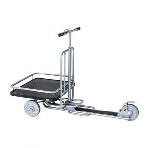 Trottinette avec plateforme - gris - avec frein - L= 1470 mm - 200 kg