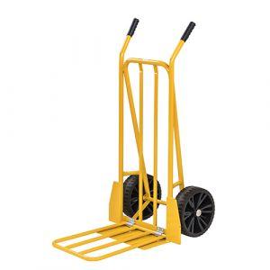 Diable porte bagage - jaune - sans frein - L=800 mm - 250 kg