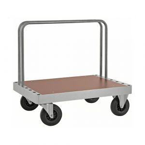 Chariot plateforme à arceaux - galva - avec frein - L= 1200 mm - 800 kg