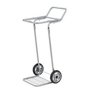 Chariot avec roues pour sac de 125 L.