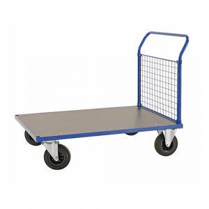 Chariot plateforme - bleu-avec frein - L= 1283 mm - 500 kg