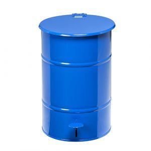 Poubelle rétro  galvanisée bleue - 70 L