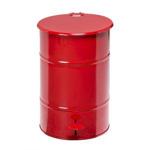 Poubelle rétro  galvanisée rouge - 30L