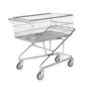 Chariot panier - galva - sans frein - L=1070 mm - 300 kg