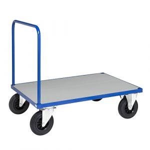 Plateau roulant - bleu - sans frein - L= 1200 mm - 500 kg