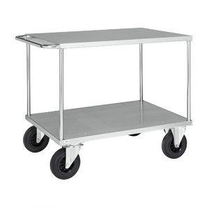 Chariot plateforme 1 plateau et 1 poignée - galva - sans frein - L=1300 mm - 500 kg