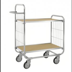 Chariot métallique ESD - galva - sans frein - L=815 mm - 250 kg