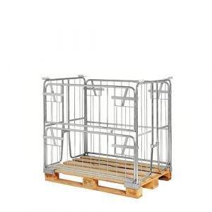 Rehausse palette repliable pour palette EUR-1200x800x100 mm