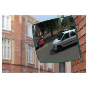Miroir de sécurité rectangulaire