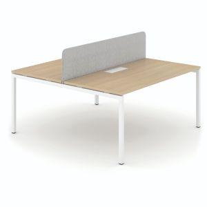 Ecran séparateur pour bureau bench pour 2 pers