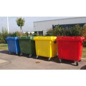 Conteneurs poubelle à déchet 4 roues 660 Litres