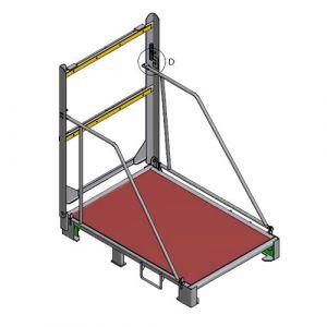 Palette métallique repliable TAP 804 x 1600 mm