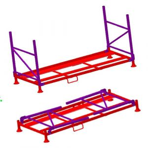 Palettes sur-mesure pour stockage pneus (camionnette PA8)