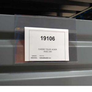 Porte étiquette transparent ouverture à l'avant