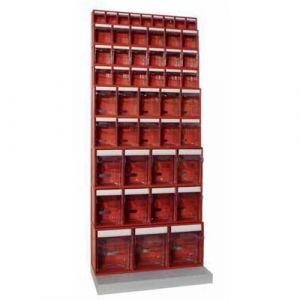 Kit présentoirs avec blocs à bacs