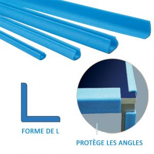Lot de 105 profilés mousse polyéthylène en L