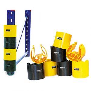 Lot de 4 protections d'échelle : 2 noires et 2 jaunes (65 mm)