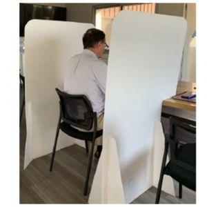 Séparateur poste assis en PPEA - lot de 25 - 800x1400 mm
