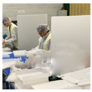 Séparateur poste debout en PPEA - lot de 25 - 800x1750 mm