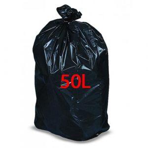 Sacs poubelle noirs 50 litres -  Lot de 4 rouleaux de 25 sacs