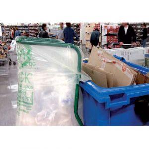 Sacs poubelle transparents 400 L
