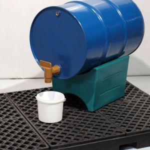 Support fût PEHD réversible pour fûts de 60, 120 et 220 litres