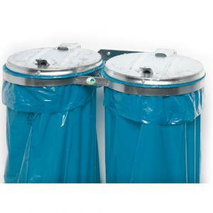Supports sacs poubelle double flux - acier galvanisé