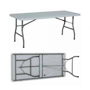 Table repliable en plastique