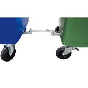 Timon d'attelage pour les conteneurs à déchets de 1000 litres