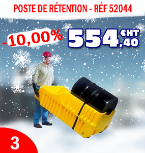 Poste de rétention mobile pour fûts
