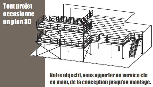 Plateformes et mezzanines industrielles